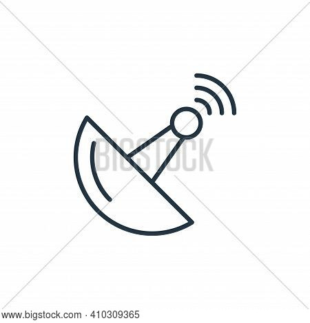 antenna icon isolated on white background from internet of things collection. antenna icon thin line