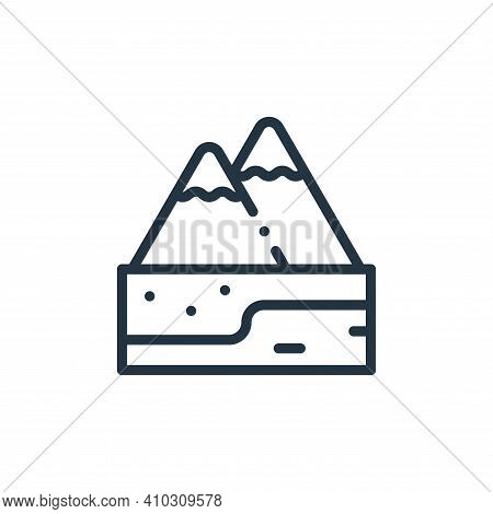 alps icon isolated on white background from europe collection. alps icon thin line outline linear al
