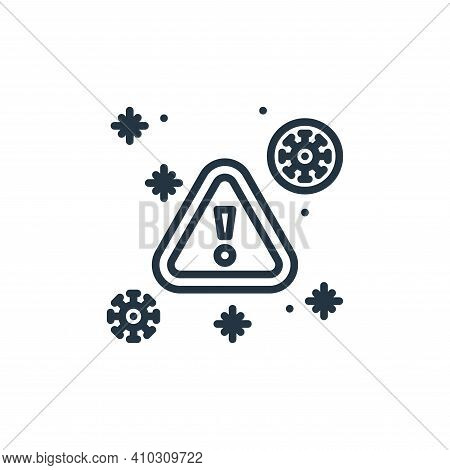 alert icon isolated on white background from virus collection. alert icon thin line outline linear a