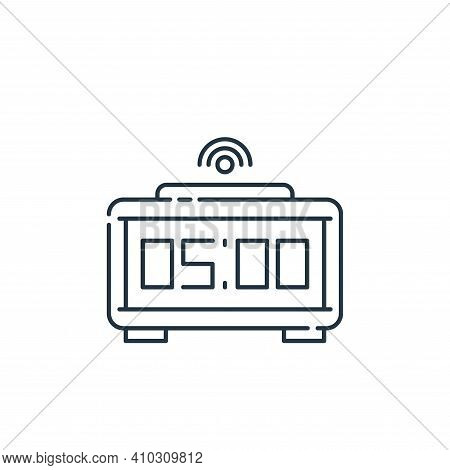 alarm icon isolated on white background from internet of things collection. alarm icon thin line out