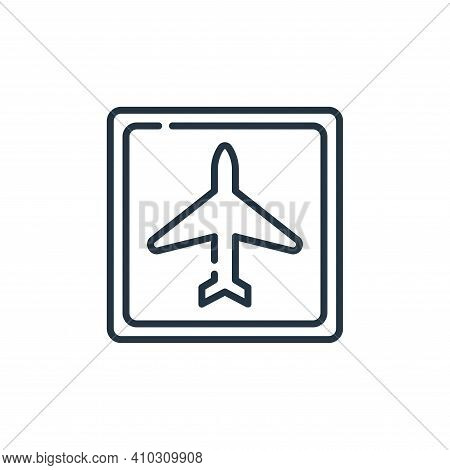 airport icon isolated on white background from signals and prohibitions collection. airport icon thi