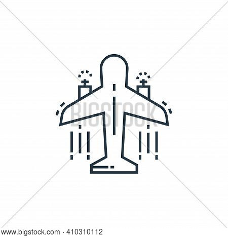 aeroplane icon isolated on white background from environment and eco collection. aeroplane icon thin