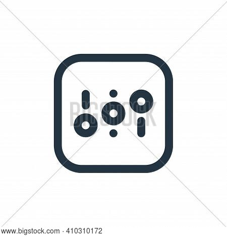adjust icon isolated on white background from sound collection. adjust icon thin line outline linear