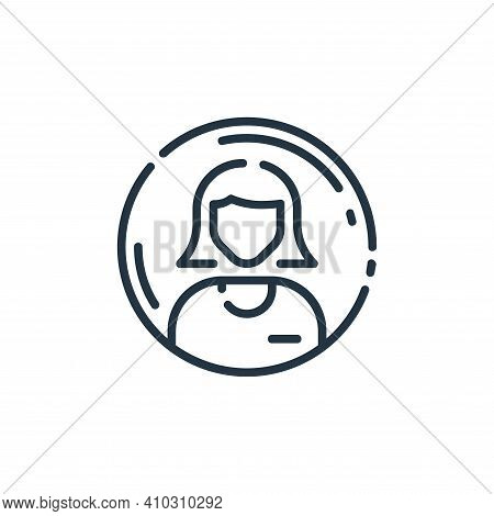 account icon isolated on white background from user interface collection. account icon thin line out