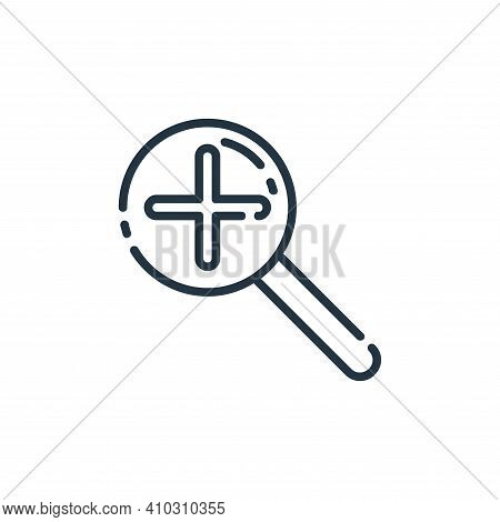zoom in icon isolated on white background from user interface collection. zoom in icon thin line out