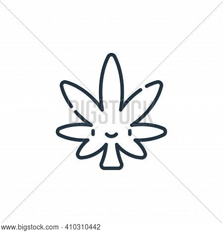 Weed icon isolated on white background from reggae collection. Weed icon thin line outline linear We