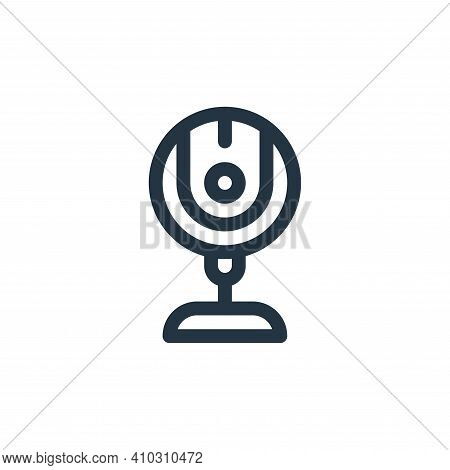 webcam icon isolated on white background from communication and media collection. webcam icon thin l