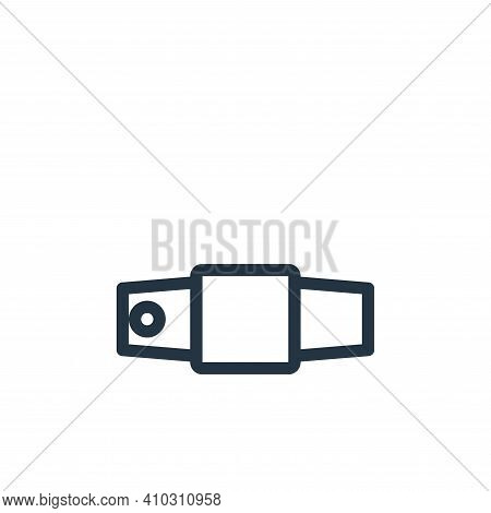 string belt icon isolated on white background from fashion collection. string belt icon thin line ou