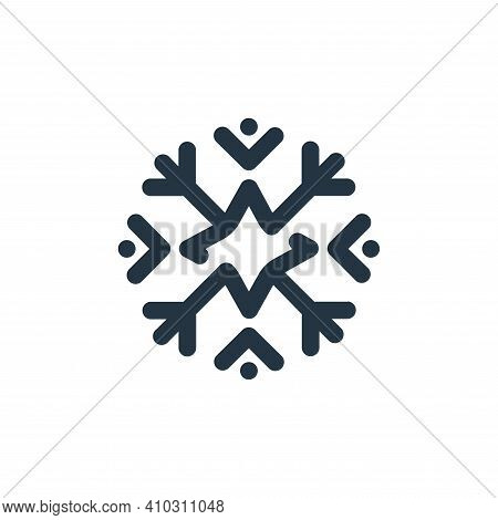 snowflake icon isolated on white background from weather collection. snowflake icon thin line outlin