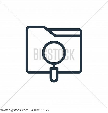 searching icon isolated on white background from online learning collection. searching icon thin lin