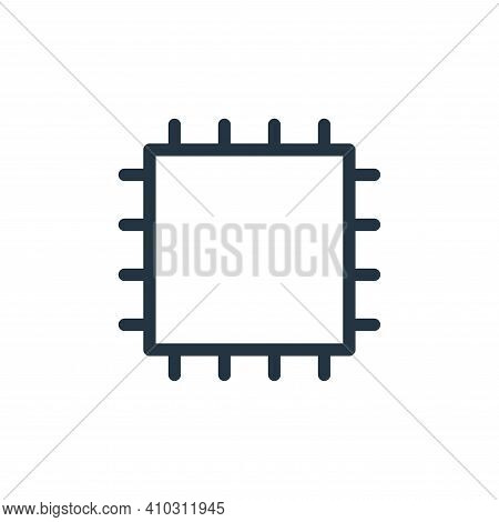 microchips icon isolated on white background from technology collection. microchips icon thin line o