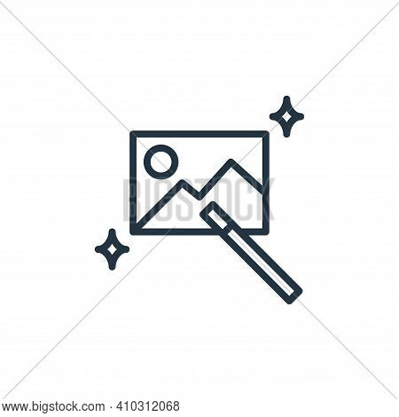 magic wand icon isolated on white background from graphic design collection. magic wand icon thin li