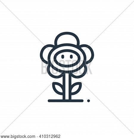 flower icon isolated on white background from videogame elements collection. flower icon thin line o