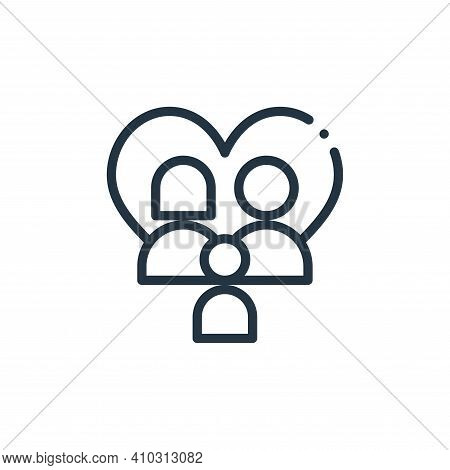 family icon isolated on white background from world love collection. family icon thin line outline l