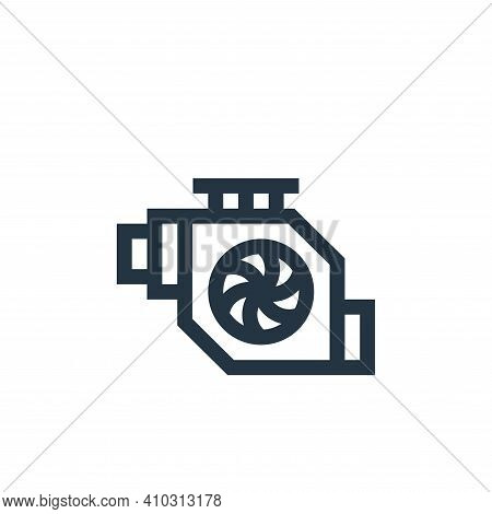engine icon isolated on white background from industrial process collection. engine icon thin line o