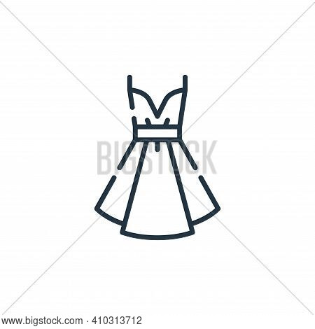 dress icon isolated on white background from fame collection. dress icon thin line outline linear dr