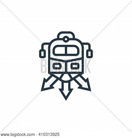 direction icon isolated on white background from railway collection. direction icon thin line outlin