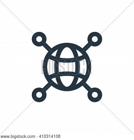 connected icon isolated on white background from web apps seo collection. connected icon thin line o