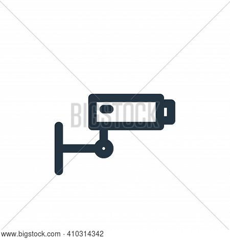 cctv icon isolated on white background from multimedia collection. cctv icon thin line outline linea