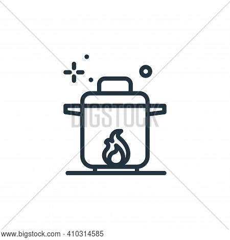 boil icon isolated on white background from coronavirus collection. boil icon thin line outline line