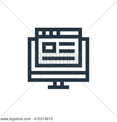 blog icon isolated on white background from advertisement collection. blog icon thin line outline li