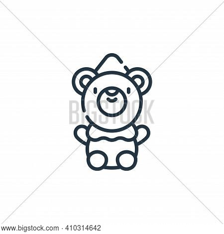 bear icon isolated on white background from circus collection. bear icon thin line outline linear be