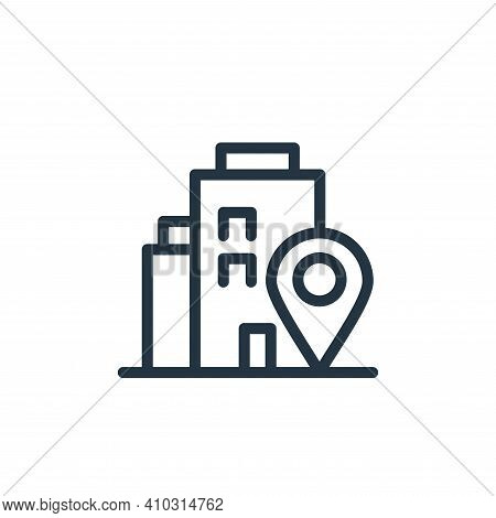 adress icon isolated on white background from navigation collection. adress icon thin line outline l