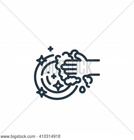 washing icon isolated on white background from cleaning collection. washing icon thin line outline l