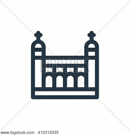 tower of london icon isolated on white background from england collection. tower of london icon thin