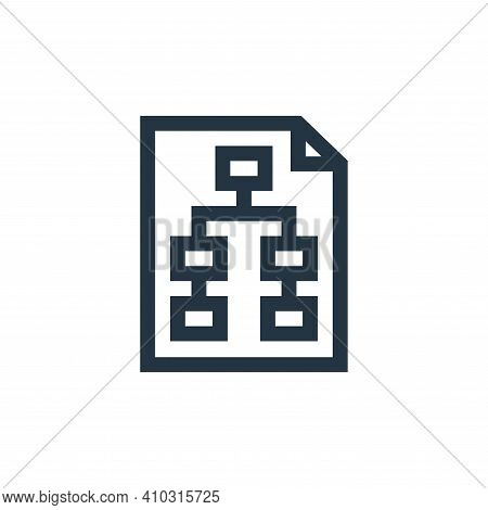 planning icon isolated on white background from marketing and growth collection. planning icon thin