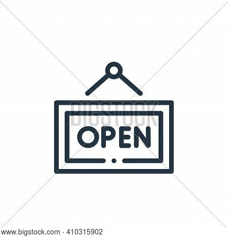 open sign icon isolated on white background from online shopping collection. open sign icon thin lin