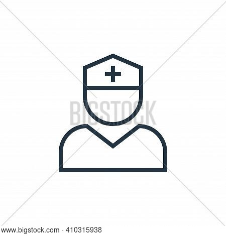 nurse icon isolated on white background from pandemic novel virus collection. nurse icon thin line o