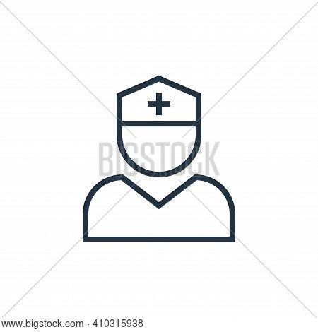 nurse icon isolated on white background from pandemic novel virus collection. nurse icon thin line o