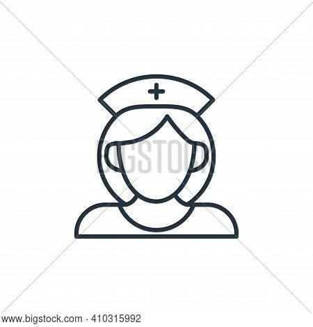 nurse icon isolated on white background from coronavirus disease collection. nurse icon thin line ou