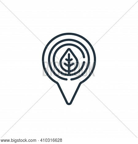 location icon isolated on white background from smart farm collection. location icon thin line outli
