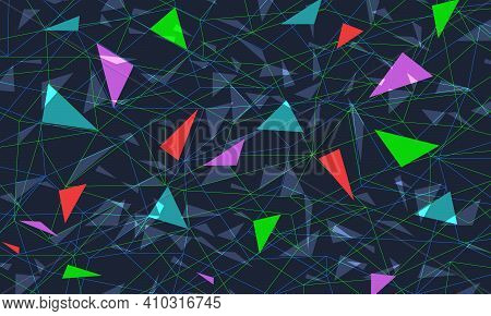 Colored Triangular Background. Pop Art Retro Vector Illustration Vintage Kitsch 50s 60s Style