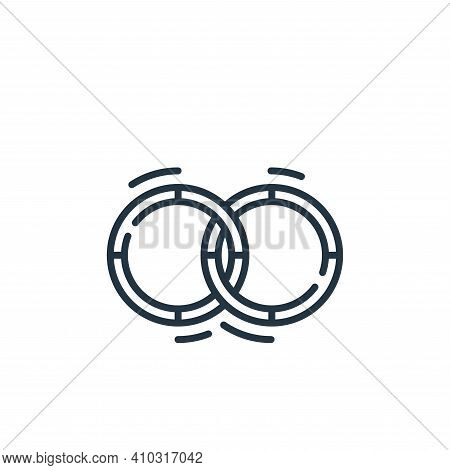 hula hoop icon isolated on white background from circus collection. hula hoop icon thin line outline