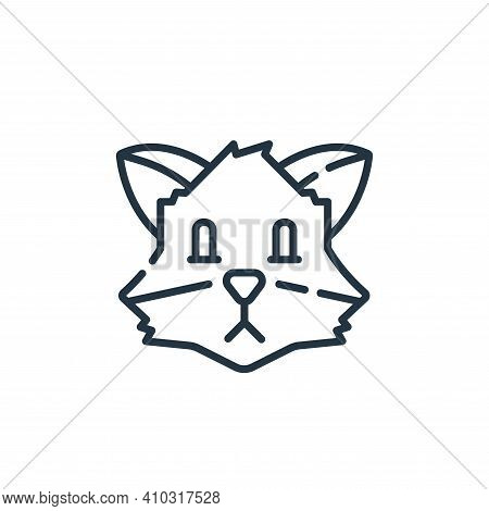 fox icon isolated on white background from england collection. fox icon thin line outline linear fox
