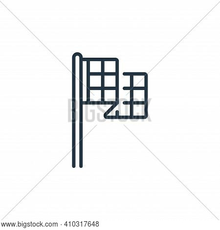 flag icon isolated on white background from fame collection. flag icon thin line outline linear flag