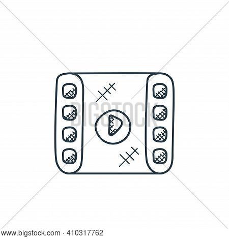 film strip icon isolated on white background from technology collection. film strip icon thin line o