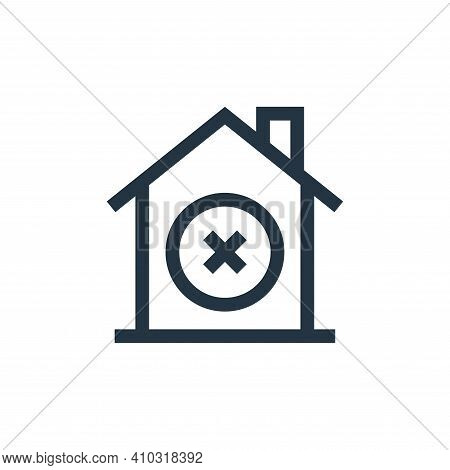 discard icon isolated on white background from real estate collection. discard icon thin line outlin