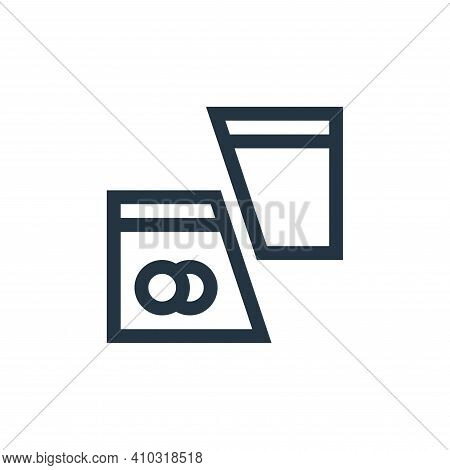 cut card icon isolated on white background from payment collection. cut card icon thin line outline