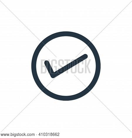 correct icon isolated on white background from marketing business collection. correct icon thin line