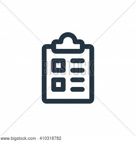 clipboard icon isolated on white background from user interface collection. clipboard icon thin line
