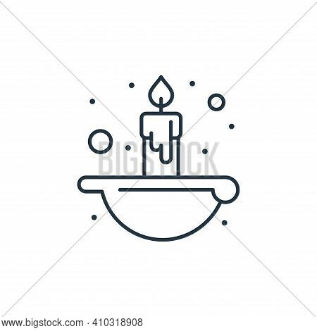candle icon isolated on white background from islam and ramadan collection. candle icon thin line ou