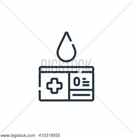 blood donor card icon isolated on white background from hope collection. blood donor card icon thin