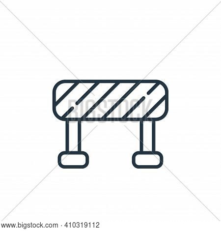 barrier icon isolated on white background from labour day collection. barrier icon thin line outline