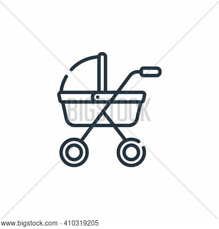 baby stroller icon isolated on white background from maternity collection. baby stroller icon thin l