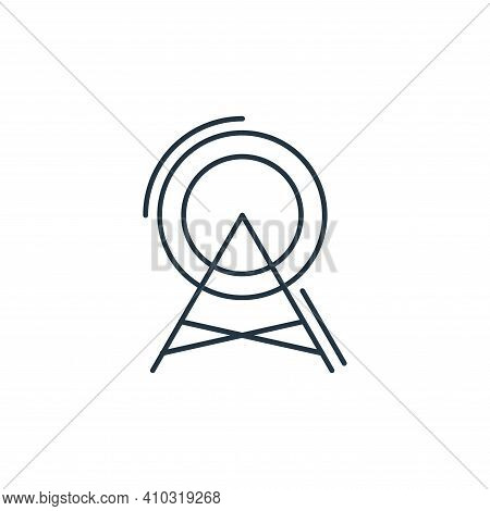 antenna icon isolated on white background from network and database collection. antenna icon thin li