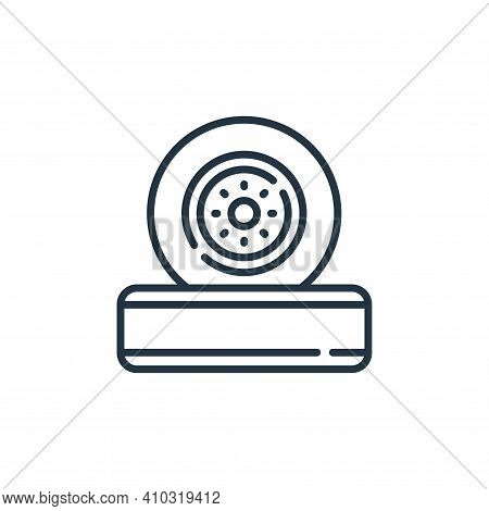 wheel icon isolated on white background from auto racing collection. wheel icon thin line outline li